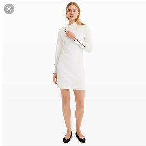Club Monaco cowl neck white sweater dress XS